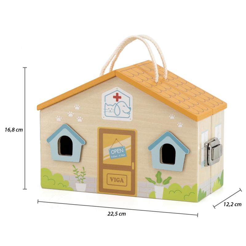 Комплект за игра - Клиника за животни от Viga toys-bellamiestore