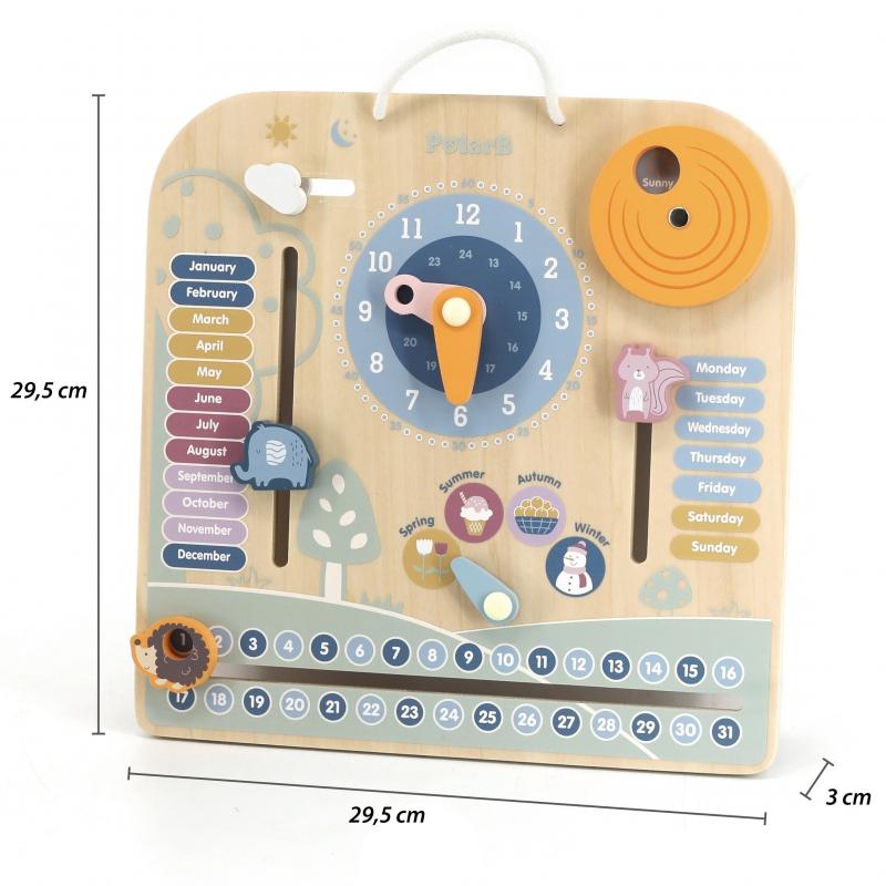 Polar B Календар и часовник - образователна играчка-bellamiestore