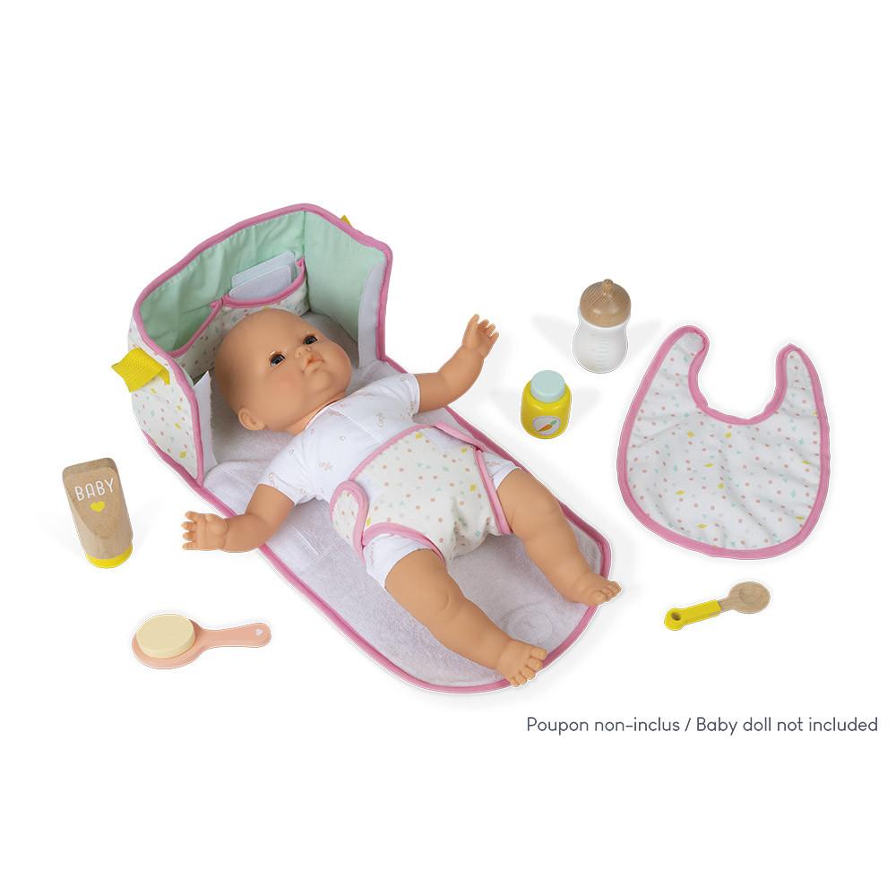 Чанта за повиване на кукли бебета с аксесоари от Janod-bellamiestore