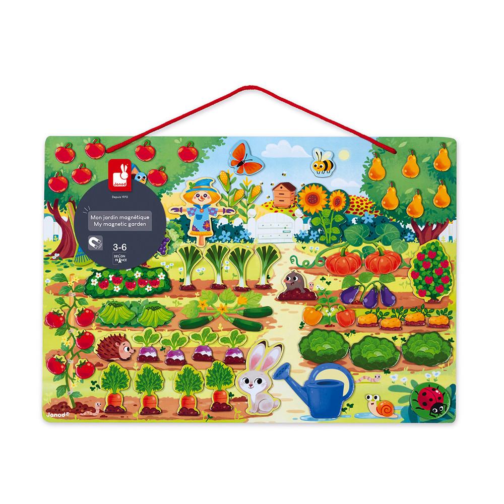 Детска игра от Janod - Моята магнитна градина-bellamiestore