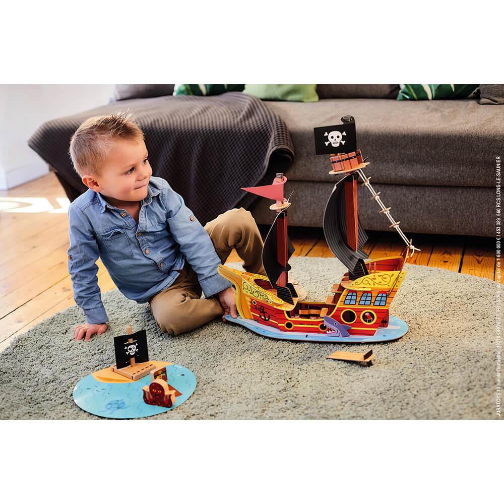 Детски играчки за момчета - Пиратски кораб от Janod-bellamiestore