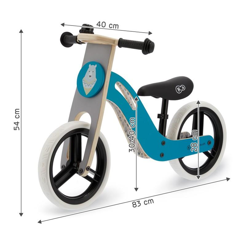 Детски баланс байк от Kinderkraft Uniq Turquoise -bellamiestore