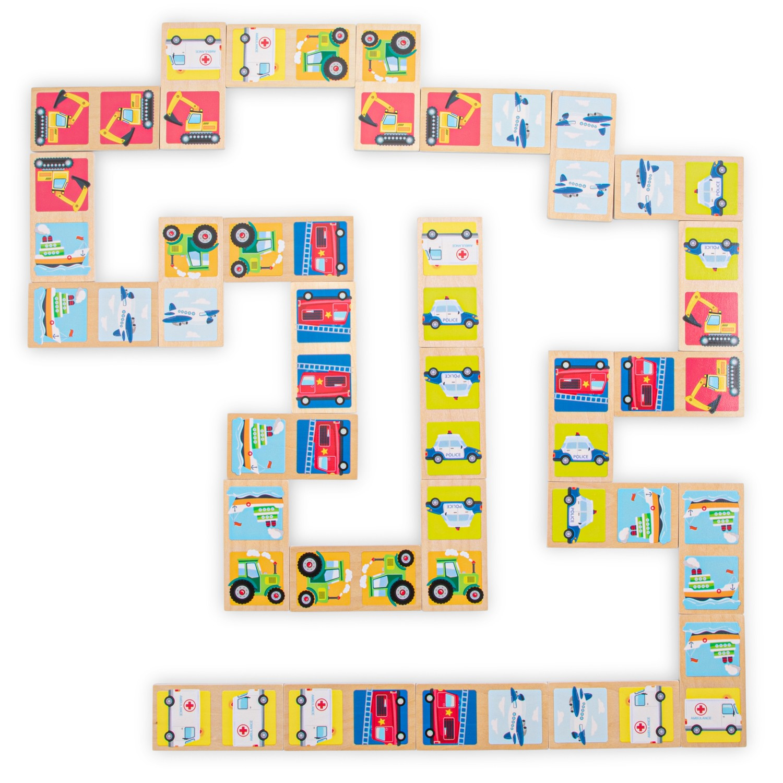 Детско домино с транспортни средства от New classic toys-bellamiestore