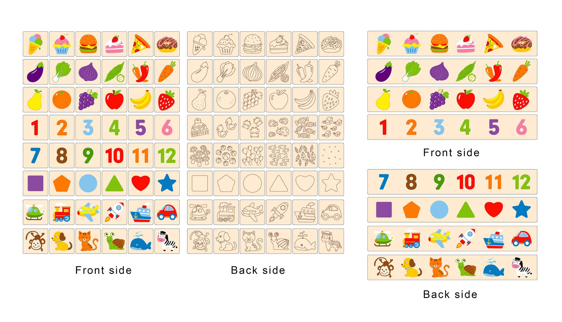 Игра за сортиране на животни, плодове и зеленчуци от Viga toys-bellamiestore