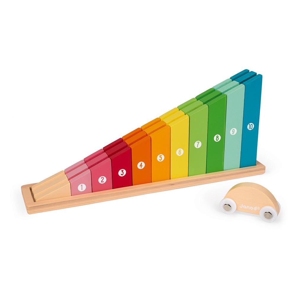 Janod дървена играчка - Уча се да броя-bellamiestore
