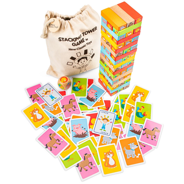 Образователна игра Дженга от New classic toys-bellamiestore