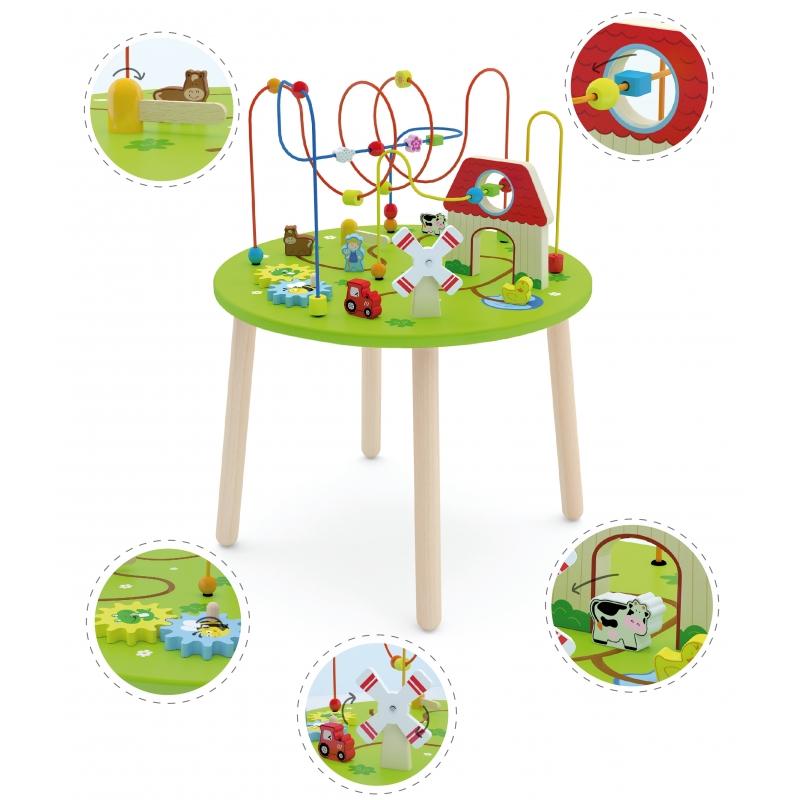 Viga toys дървена маса с активности-bellamiestore