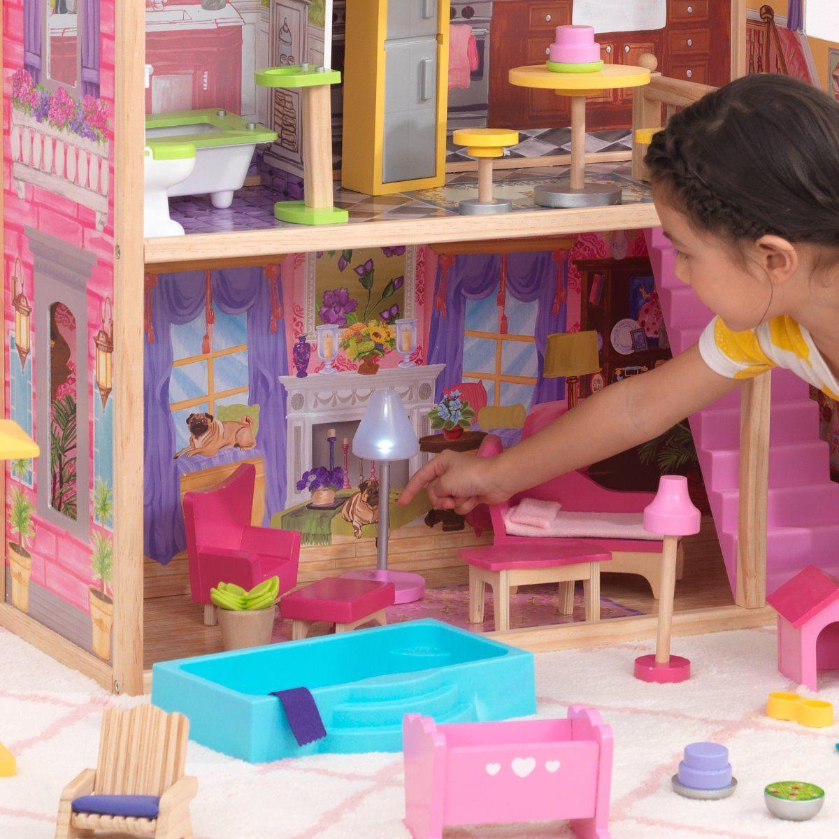 KidKraft къща за кукли Барби с басейн-bellamiestore