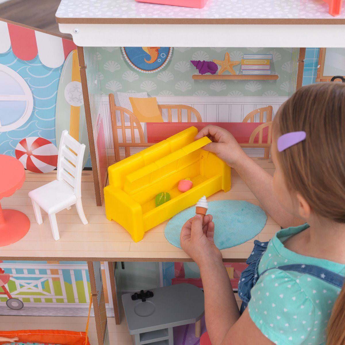 Kidkraft плажна къща за кукли с виенско колело-bellamiestore