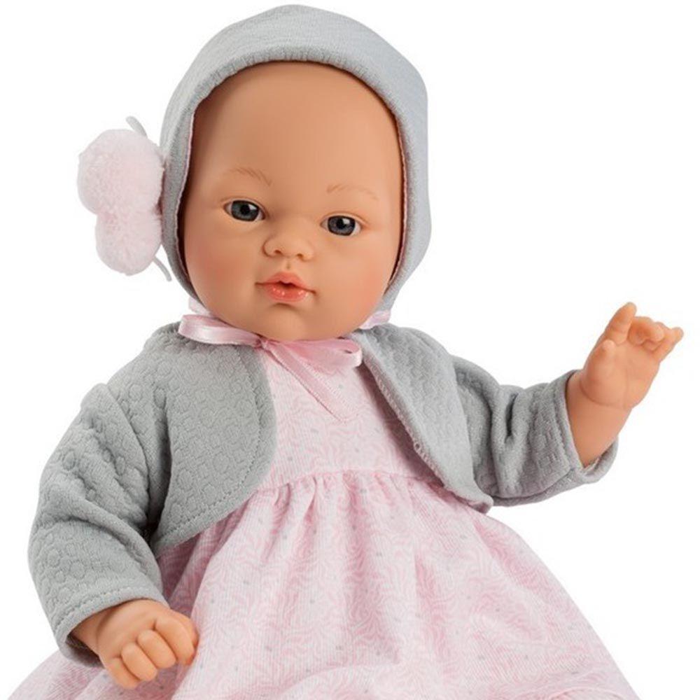 Бебе кукла Asi - Коке с розова рокля и жилетка-беламистор