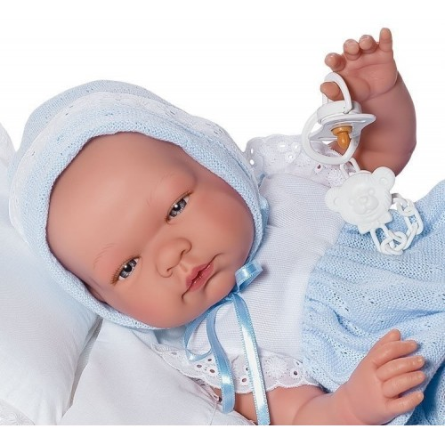 Бебенце Пабло с биберон- детска кукла от Asi -bellamiestore