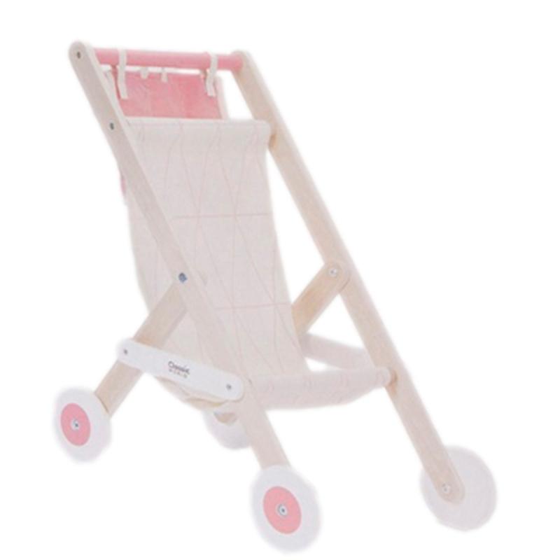 Дървена количка за кукли с чанта от Classic World-bellamiestore