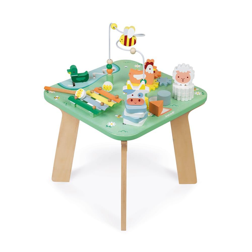 Дървена масичка с активности - Поляна от Janod-bellamiestore