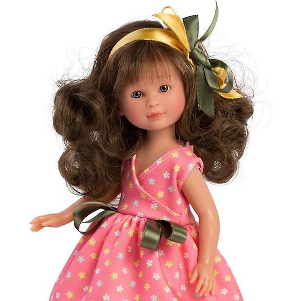 Детска кукла Asi dolls Силия с коралова рокля-bellamiestore