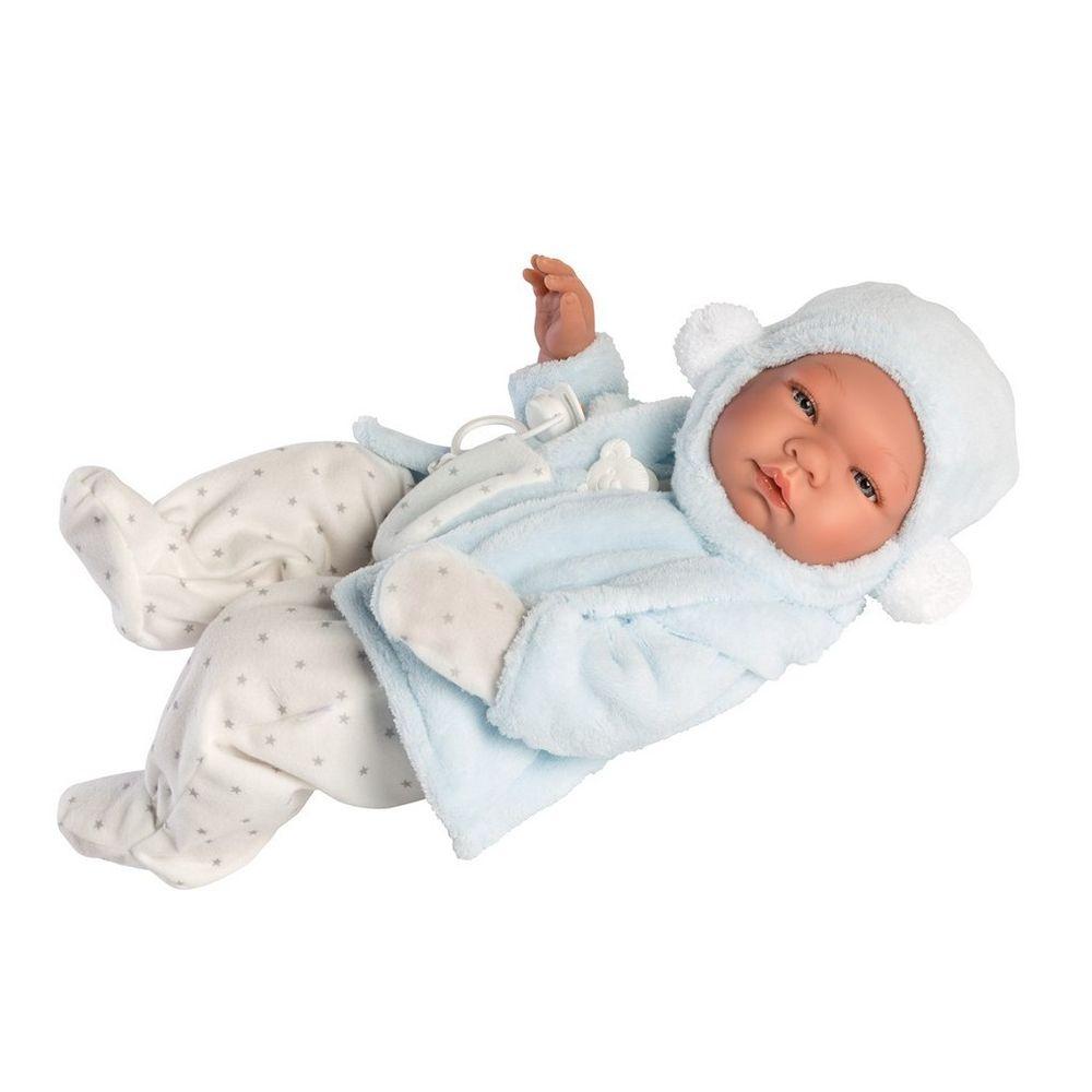 Детска кукла Бебе Пабло с яке и ританки-bellamiestore