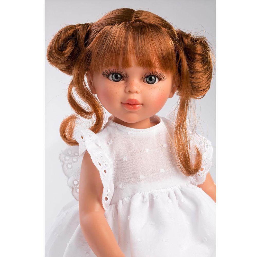 Красива детска кукла с бяла рокля Сабрина от Asi Dolls-bellamiestore