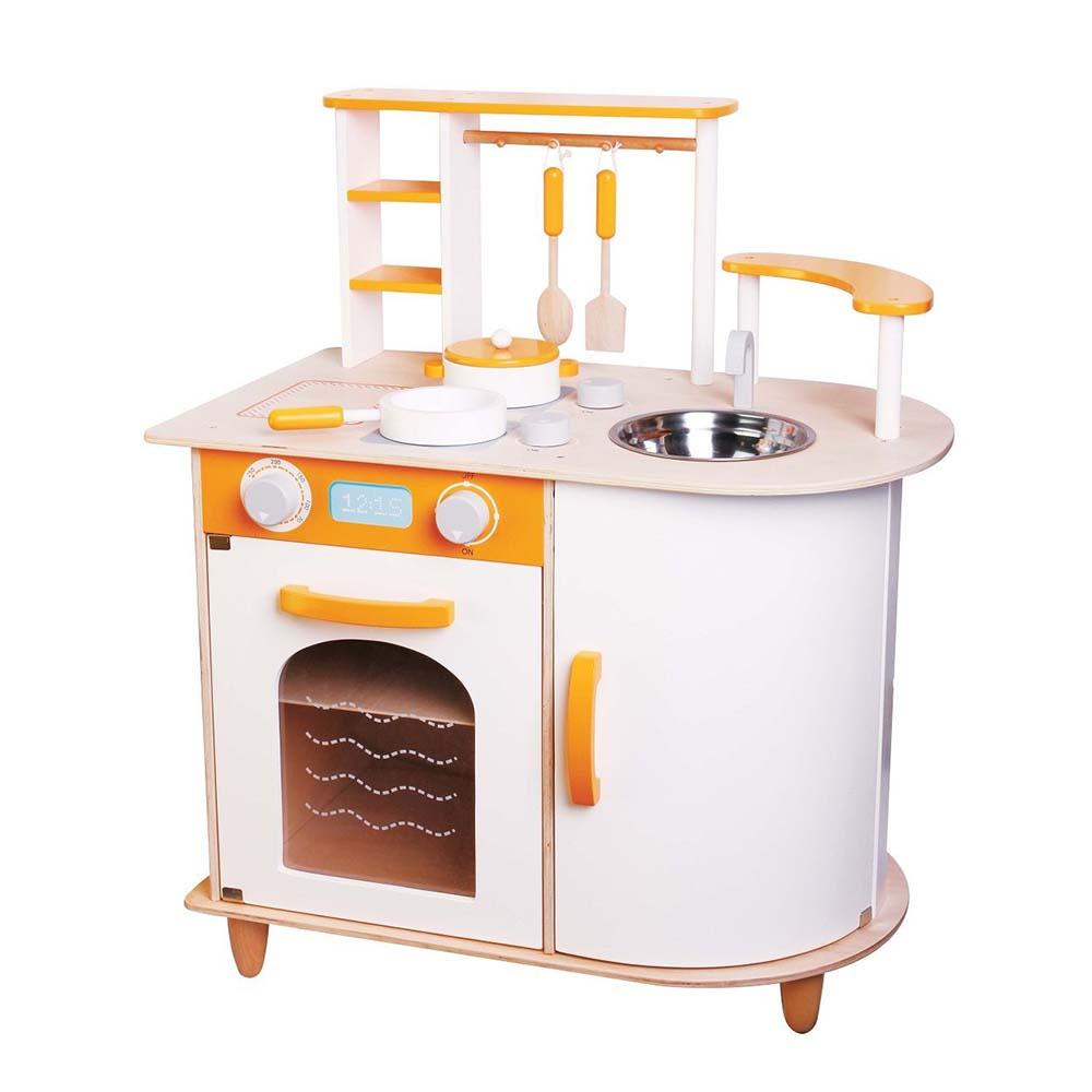 Lelin Детска дървена кухня Алисия-bellamiestore