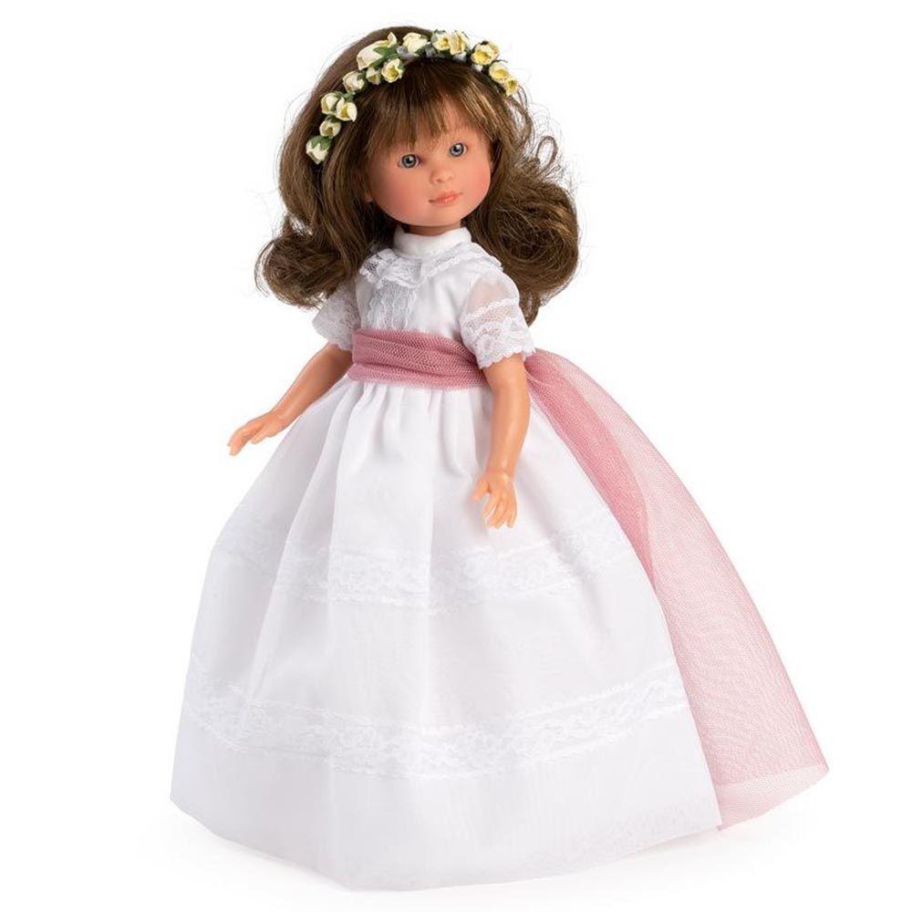 Ръчно правена детска кукла с бална рокля Силия-bellamiestore