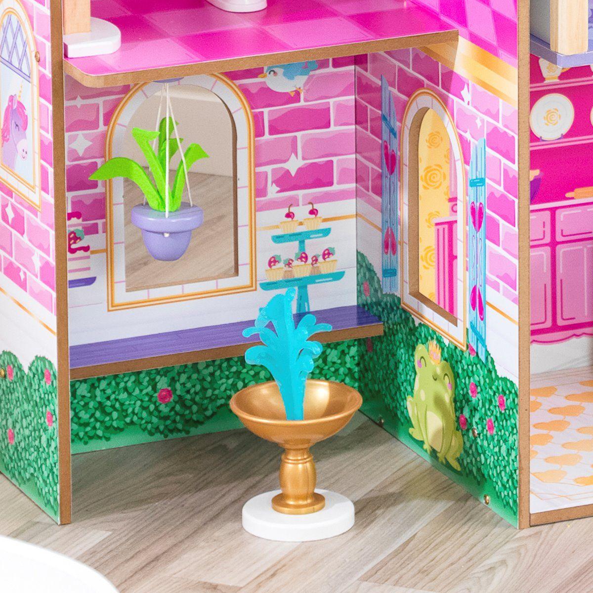 Замък за принцеси - дървени къщи за кукли от Kidkraft-bellamiestore